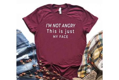 Dames T-shirt met tekst | Originele, grappige quotes - in 6 kleuren!  #2 - wijnrood