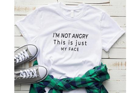 Dames T-shirt met tekst | Originele, grappige quotes - in 6 kleuren!  #2 - wit