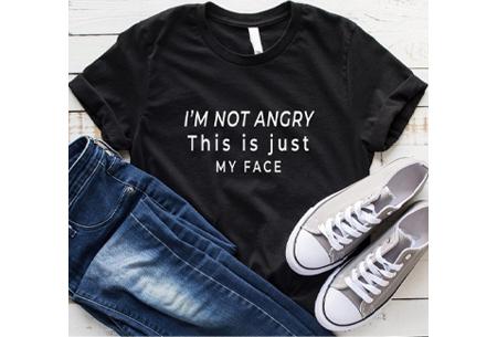 Dames T-shirt met tekst | Originele, grappige quotes - in 6 kleuren!  #2 - zwart