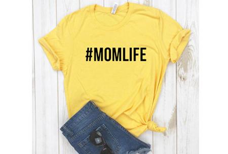 Dames T-shirt met tekst | Originele, grappige quotes - in 6 kleuren!  #1 - geel