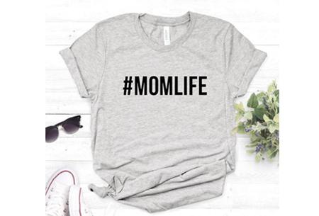 Dames T-shirt met tekst | Originele, grappige quotes - in 6 kleuren!  #1 - grijs