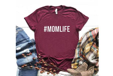 Dames T-shirt met tekst | Originele, grappige quotes - in 6 kleuren!  #1 - wijnrood