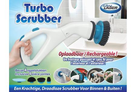Turbo Scrubber van Aqua Laser   Draadloze elektrische schoonmaakborstel!