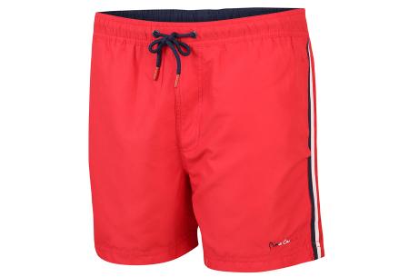 Pierre Cardin zwembroek |  Zwemshort voor heren met trendy streep Rood