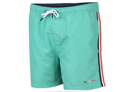 Pierre Cardin zwembroek |  Zwemshort voor heren met trendy streep Groen