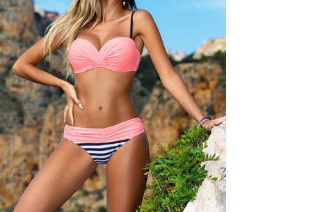 Bikini sale - Maat S - #1 - Lovely Beach bikini - #3 - Stripe light pink