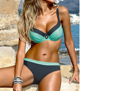 Bikini sale - Maat S - #3 - Beauty Beach bikini - #1 Uni blue