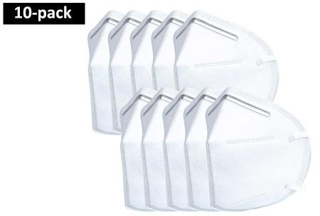 Mondkapjes 10-pack met KN95 certificering   Niet-medische 5-laags mondmaskers met beschermingsniveau FFP2