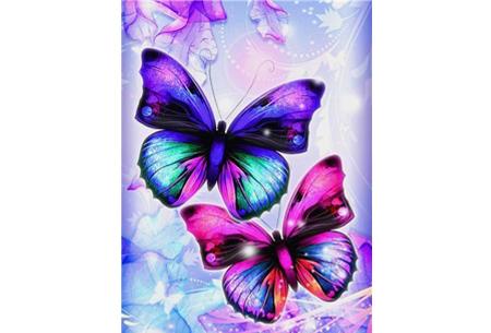 Diamond painting vlinders | Kies uit 14 prachtige schilderijen - in 5 formaten  #6