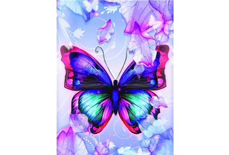 Diamond painting vlinders | Kies uit 14 prachtige schilderijen - in 5 formaten  #11