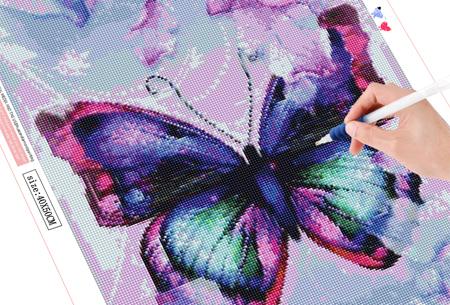 Diamond painting vlinders   Kies uit 14 prachtige schilderijen - in 5 formaten