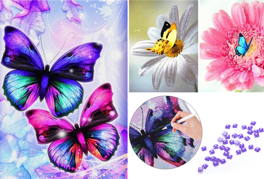 Diamond painting vlinders in de aanbieding