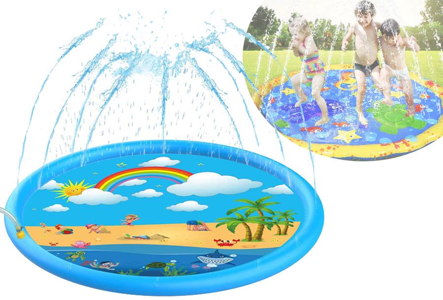 Opblaasbare waterspeelmat: nu 50% korting!