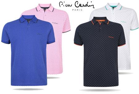 Pierre Cardin herenpolo | Trendy poloshirt met subtiele stippen