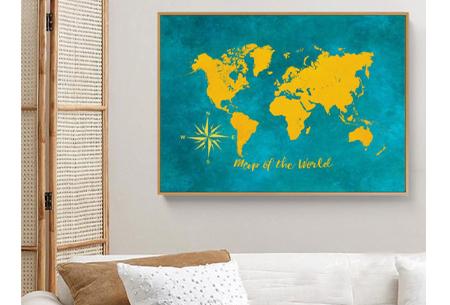 Diamond painting wereld | Schitterende schilderijen van de complete wereldkaart!