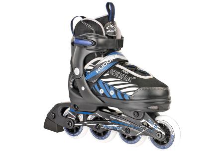 Skeelers en beschermers   Stoere inline skates voor kinderen - Keuze uit 2 kleuren!  Blauw/ zwart