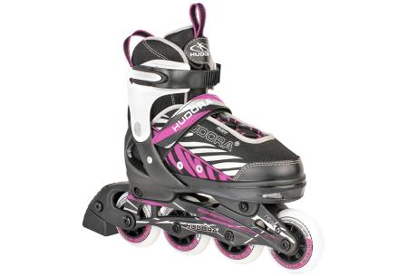 Skeelers en beschermers   Stoere inline skates voor kinderen - Keuze uit 2 kleuren!  Lila/ zwart