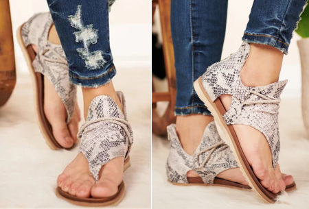Jane sandalen voor dames | Trendy slippers met dierenprint E