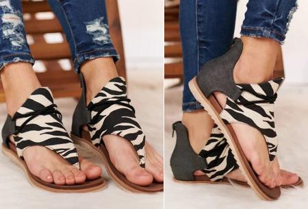 Jane sandalen voor dames | Trendy slippers met dierenprint C