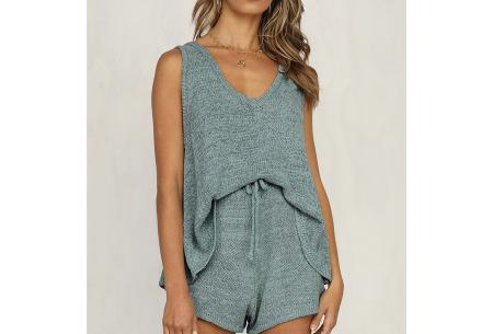 Dames kledingset | Zomerse two piece - in 3 kleuren! Blauw