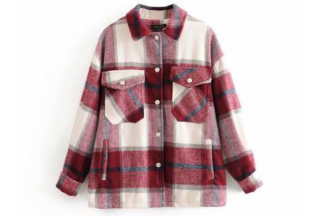 Geruite jas voor dames | Dé tussenjas van dit moment!  Rood #1