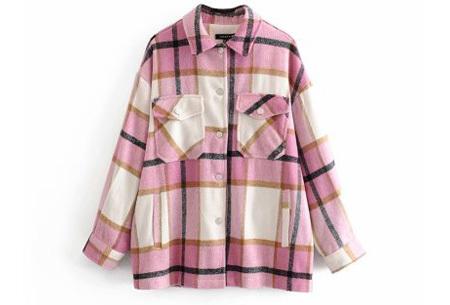 Geruite jas voor dames   Dé tussenjas van dit moment!  Roze