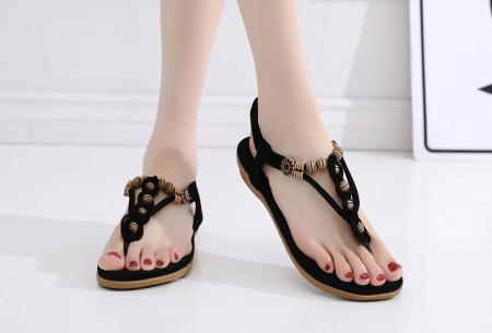 Dames sandalen | Met comfortabel voetbed - In 3 modellen A - zwart