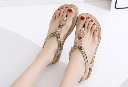 Dames sandalen | Met comfortabel voetbed - In 3 modellen B - beige