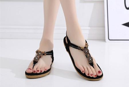 Dames sandalen | Met comfortabel voetbed - In 3 modellen B - zwart