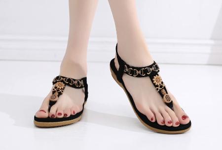 Dames sandalen | Met comfortabel voetbed - In 3 modellen C - zwart
