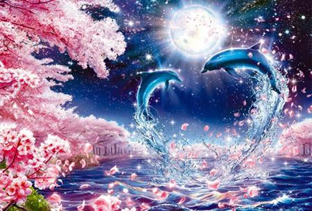 Diamond painting dolfijnen   Adembenemende schilderijen om zelf te maken!  #1
