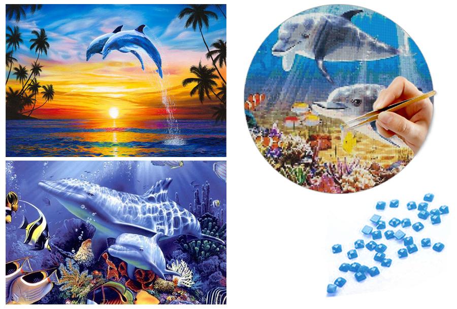 Diamond painting dolfijnen - nu in de aanbieding!