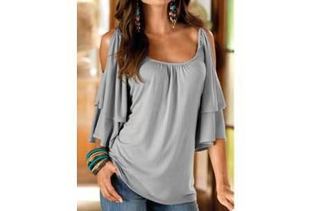 Butterfly sleeve shirt Maat XL - Grijs