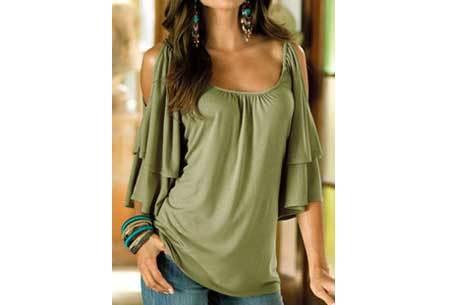 Butterfly sleeve shirt Maat XL - Legergroen