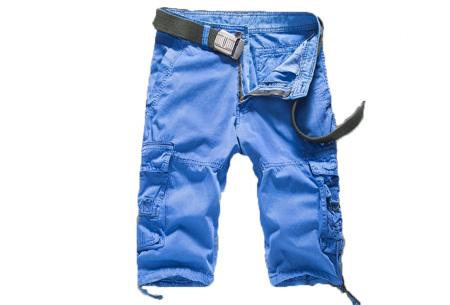 Korte broek voor heren | Stoere cargo broek in 8 kleuren Blauw