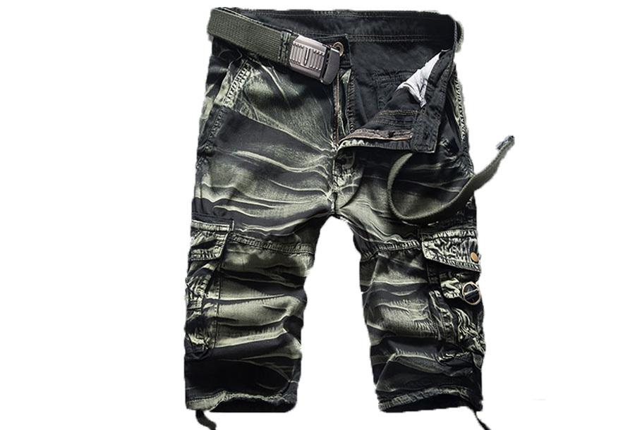 Cargo broek heren - Maat XL - Camo groen