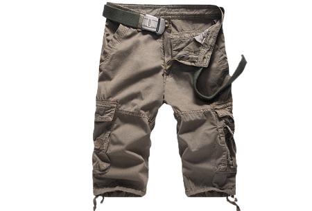 Korte broek voor heren | Stoere cargo broek in 8 kleuren Grijs