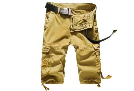 Korte broek voor heren | Stoere cargo broek in 8 kleuren Khaki