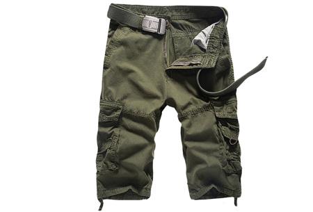 Korte broek voor heren | Stoere cargo broek in 8 kleuren Legergroen