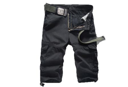 Korte broek voor heren | Stoere cargo broek in 8 kleuren Zwart A