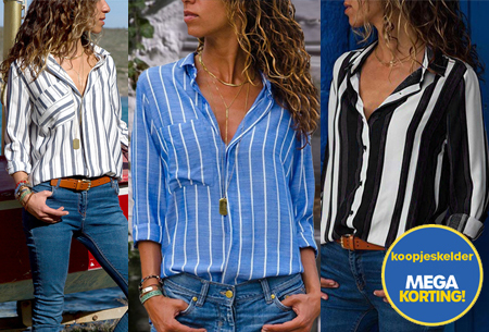 Striped blouse in 13 prints | Stijlvolle blouse met streepjespatroon