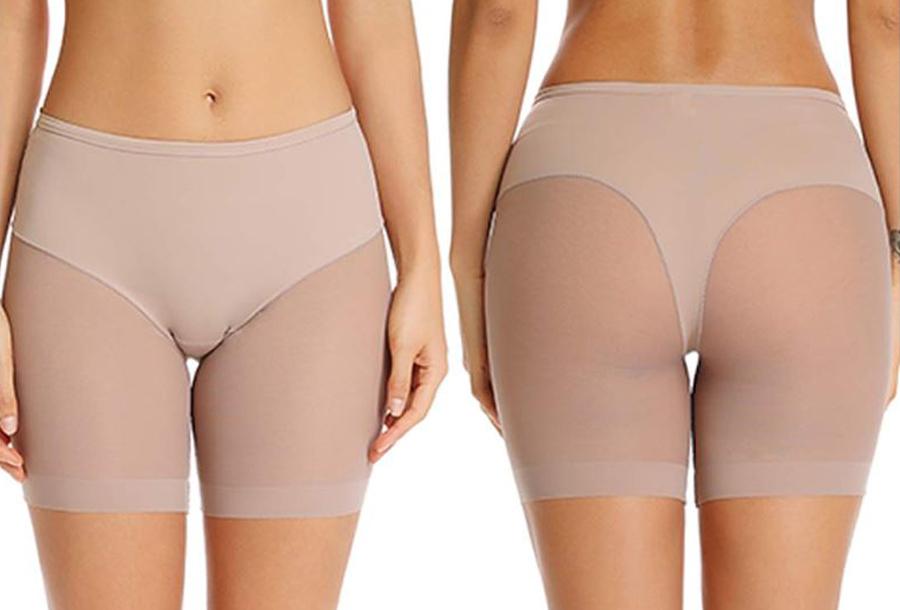 Onzichtbare onderkleding in 2 kleuren 2x - anti-schuur short - beige maat L