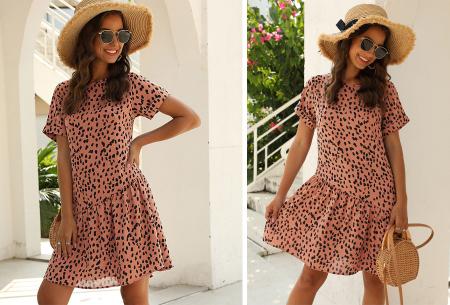 T-shirt jurk met panterprint   Trendy & luchtige zomerjurk!