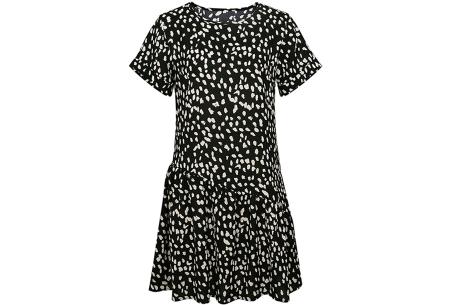 T-shirt jurk met panterprint   Trendy & luchtige zomerjurk! Zwart