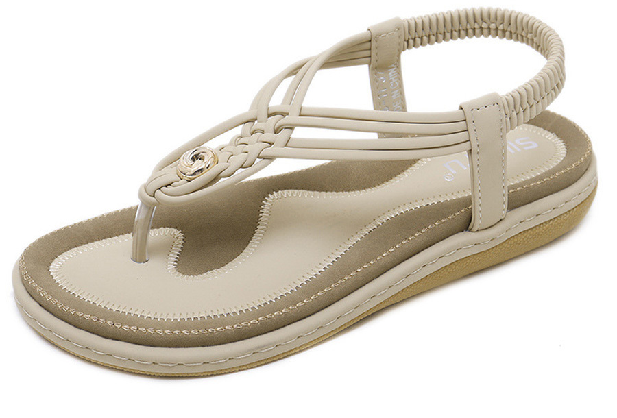 Slippers met comfortabel voetbed - 35 - Beige