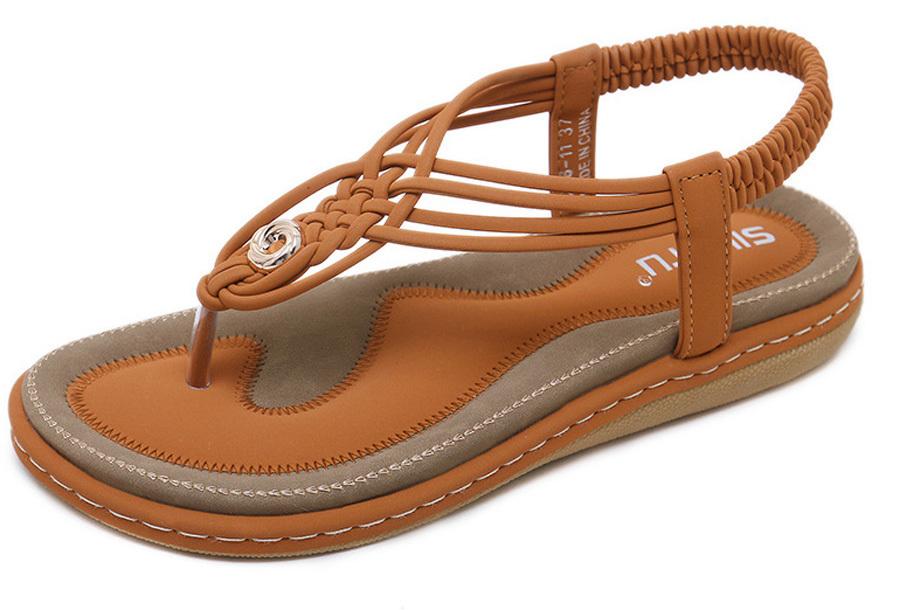 Slippers met comfortabel voetbed - 38 - Bruin