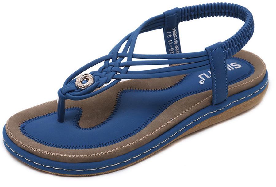 Slippers met comfortabel voetbed - 36 - Donkerblauw