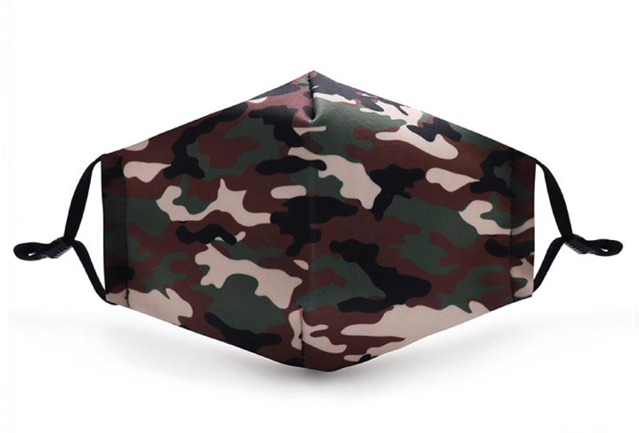 Wasbare mondkapjes en PM2.5 filters Mondkapje - Camouflage + 11 PM2.5 filters