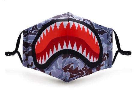 Wasbare mondkapjes en PM2.5 filters van Mondkap Monkeys | Niet-medische mondmaskers voor kinderen en volwassenen Haai