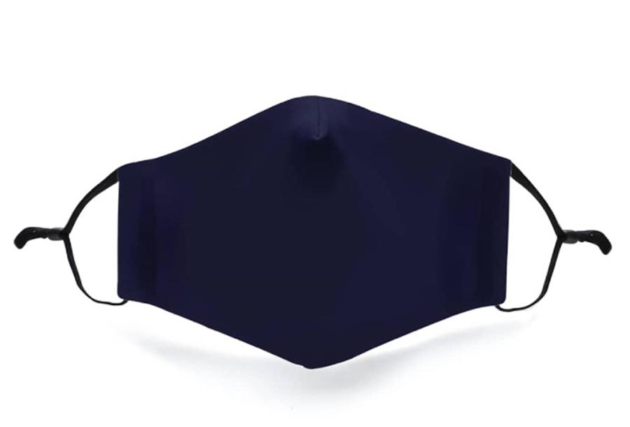 Wasbare mondkapjes en PM2.5 filters Marine blauw + PM2.5 filter